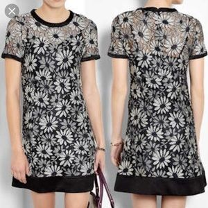 Marc By Marc Jacobs Dress Lily Lace Monochrome 0